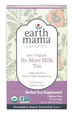 Earth Mama Organic No More Milk Tea (16 Tea Bags)