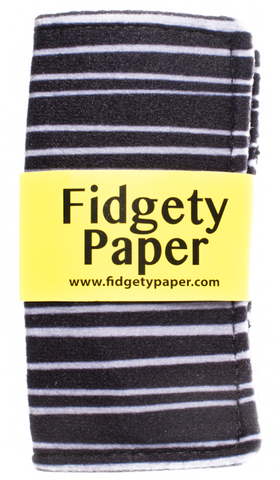 Fidgety Paper - Pocket Black & Gray Stripe