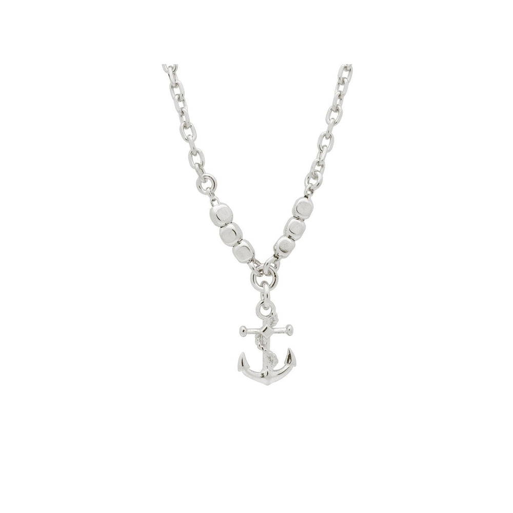 BecKids Italian Anchor Charm Necklace for Boys, 16""