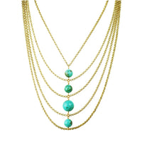 Turquoise Center Bib Necklace