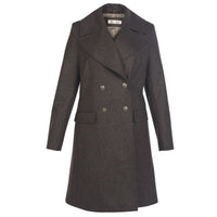 Gray Double-Breasted Wool Coat