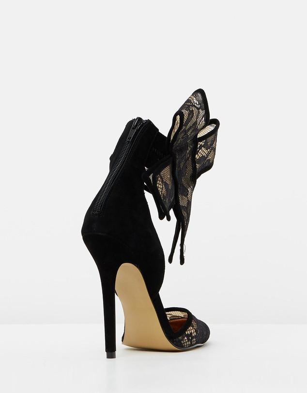 Izoa the Shiralee Heels Black & Nude Lace in Collaboration With Shiralee Coleman