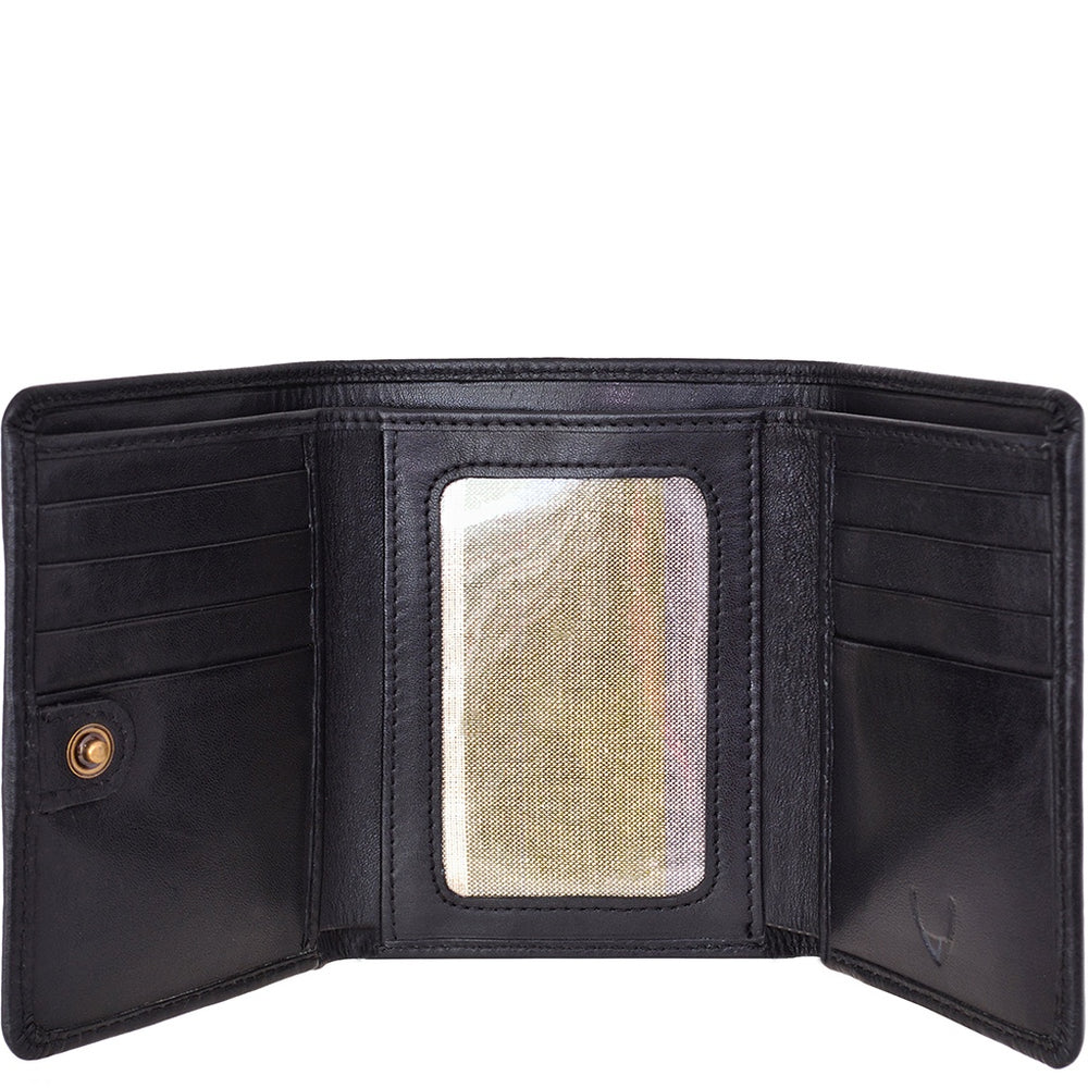 Hidesign Charles Classic Trifold Leather Wallet with ID Window