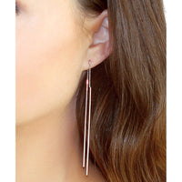 Bar and Chain Threader Earrings