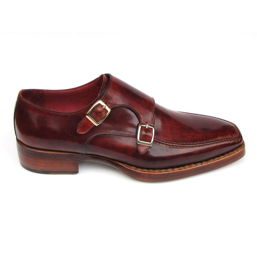 Paul Parkman Men's Double Monkstrap Goodyear Welted Shoes (ID#061-BRD)