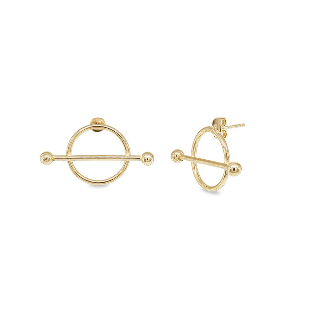 Golden Constellation Stud Earrings