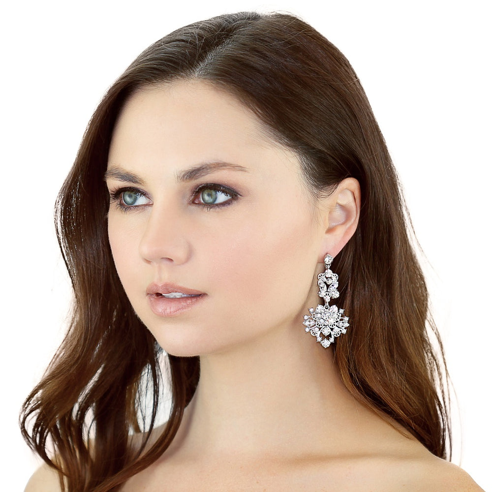 Floral Gem Earrings
