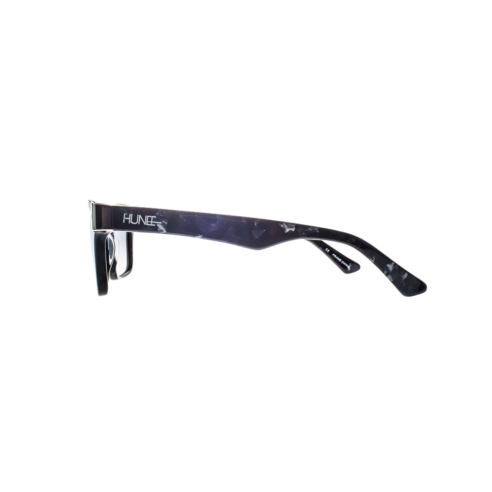 Marble with Silver Tone Metal Wayfarers
