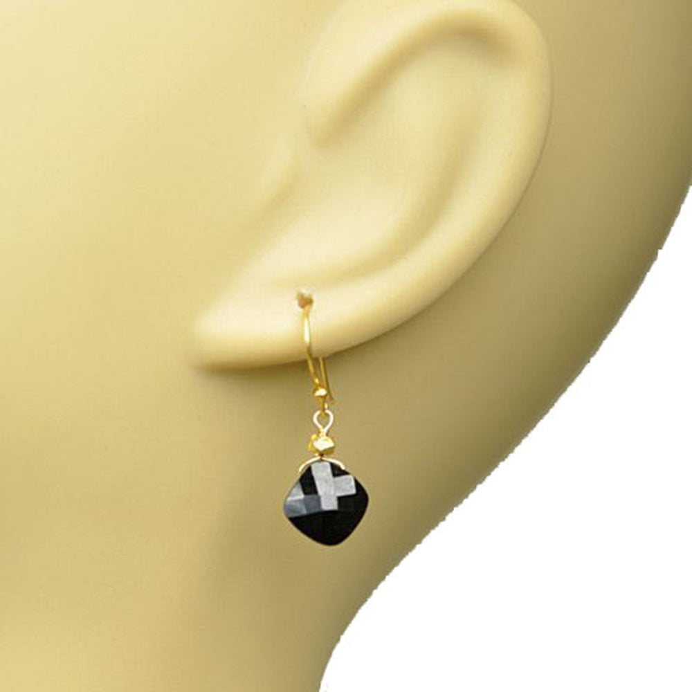 Black Spinel Drop Earrings
