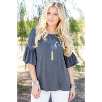 Ruffle Sleeve Top