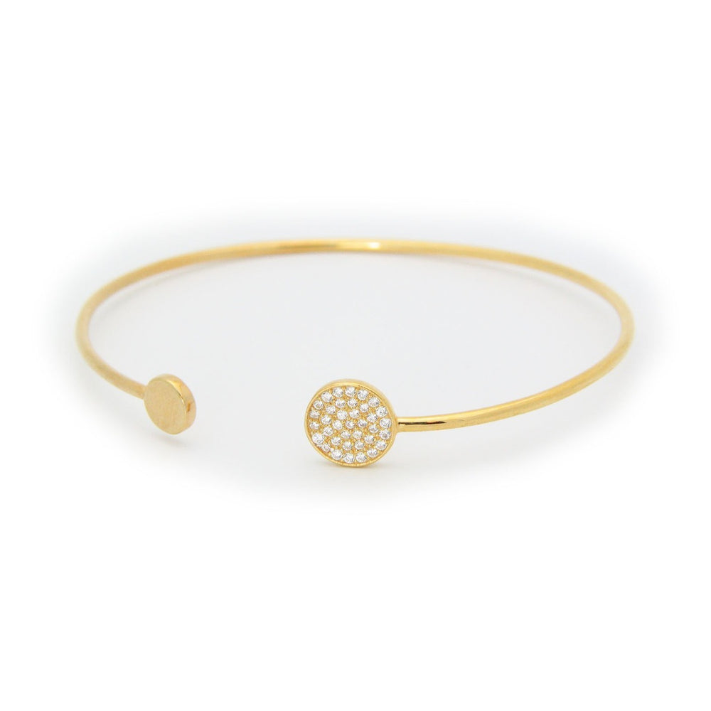 Sparkling Discs Golden Bangle