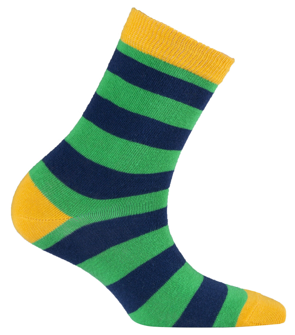 Stripe 9046 5-Pair Kid's Crew Dress Socks