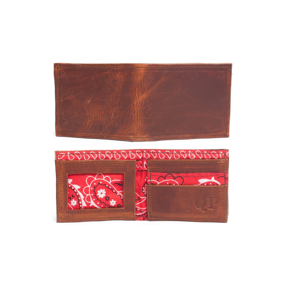 Men's Wallet - Walnut Bandana