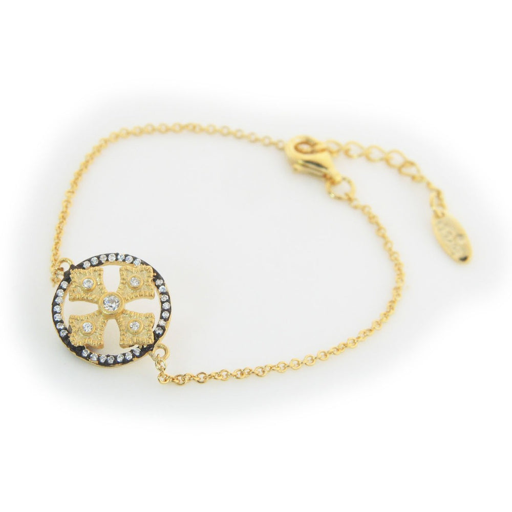 "Italian Cross Bracelet: Length,  6""+1"""