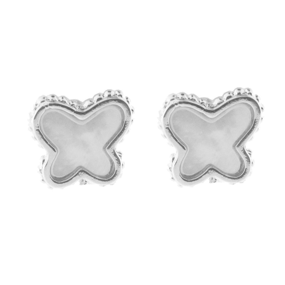 Mother of Pearl Butterfly Stud Earrings