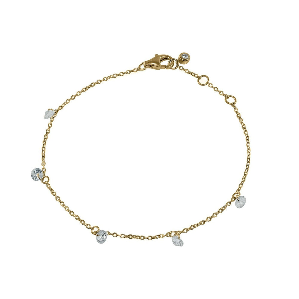 Mini CZ Bracelet dipped in 14k Gold