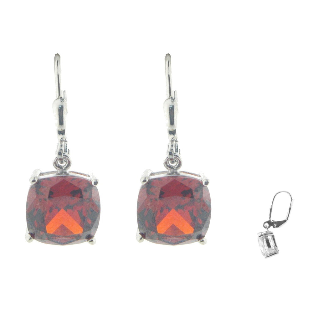 Red Crystal French Clasp Earrings