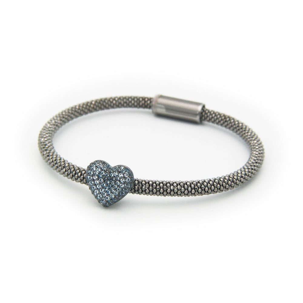 London Blue Cz Heart Bracelet