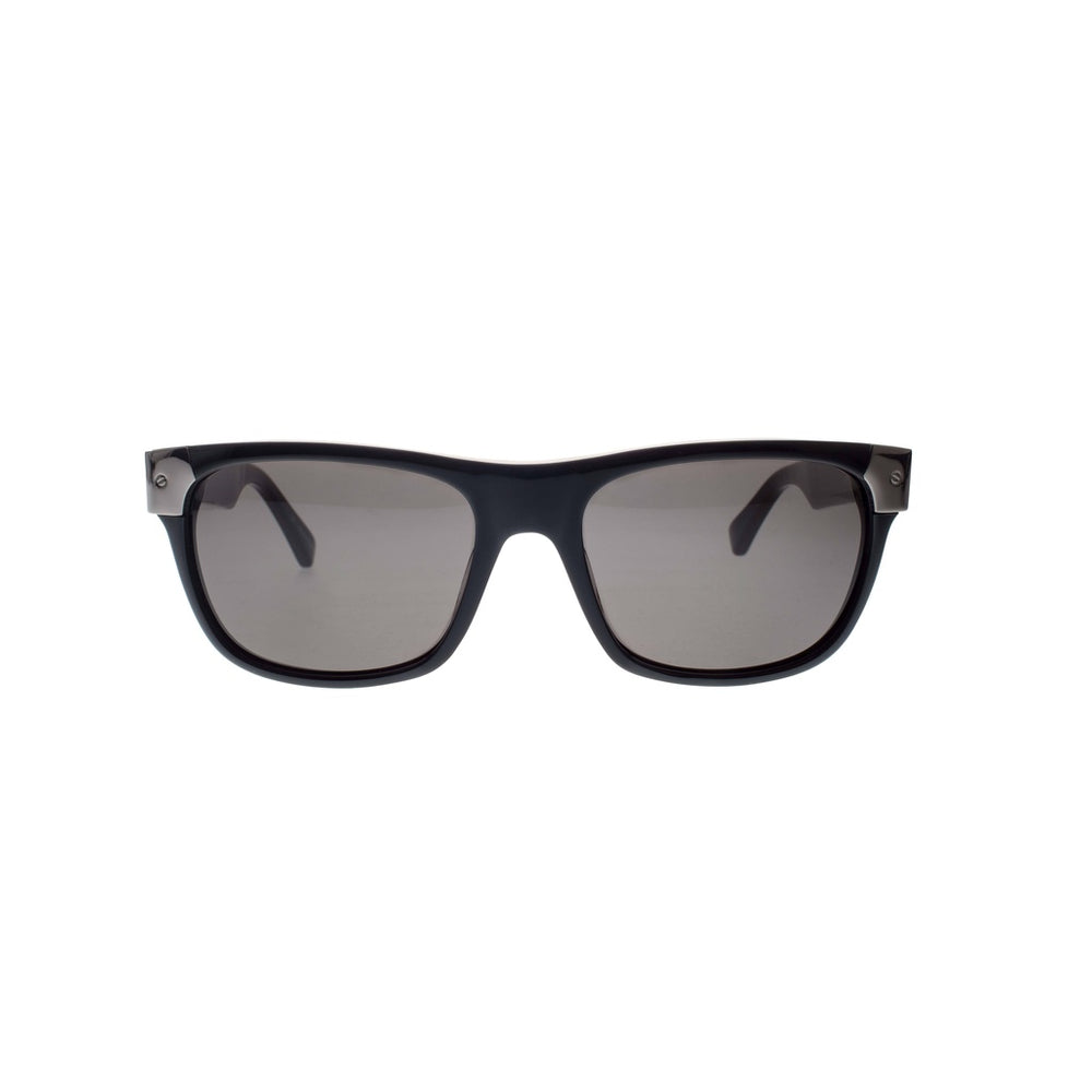 Black with Gun Silver Metal Wayfarers