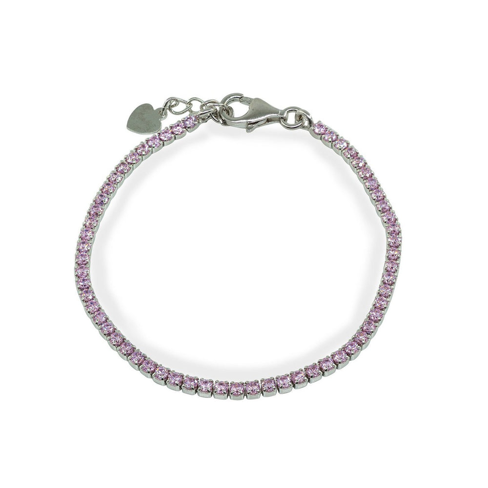 Girls Mini Rose CZ Tennis Bracelet   Sterling Silver by BecKids