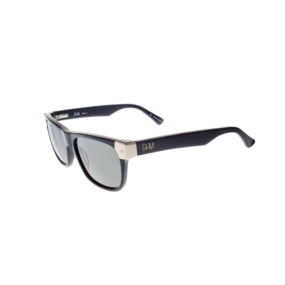 Shiny Black with Gold Tone Metal Wayfarers