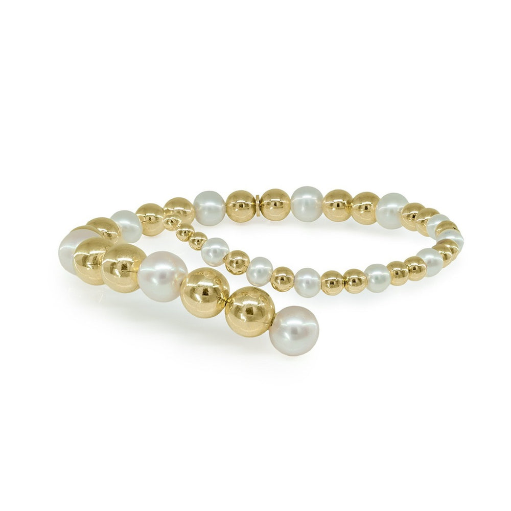 Golden Bubbles & Pearls Bracelet