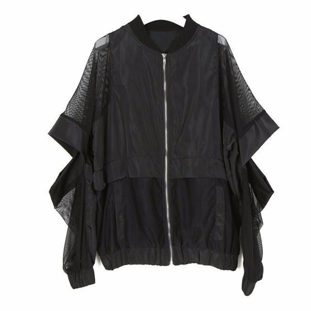 Abbey Hollow Cut Out Jacket - Black