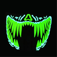 Gazuntai Halloween LED Mask LED is the best Light Up Party Terror Mask on a Cold Halloween Night.