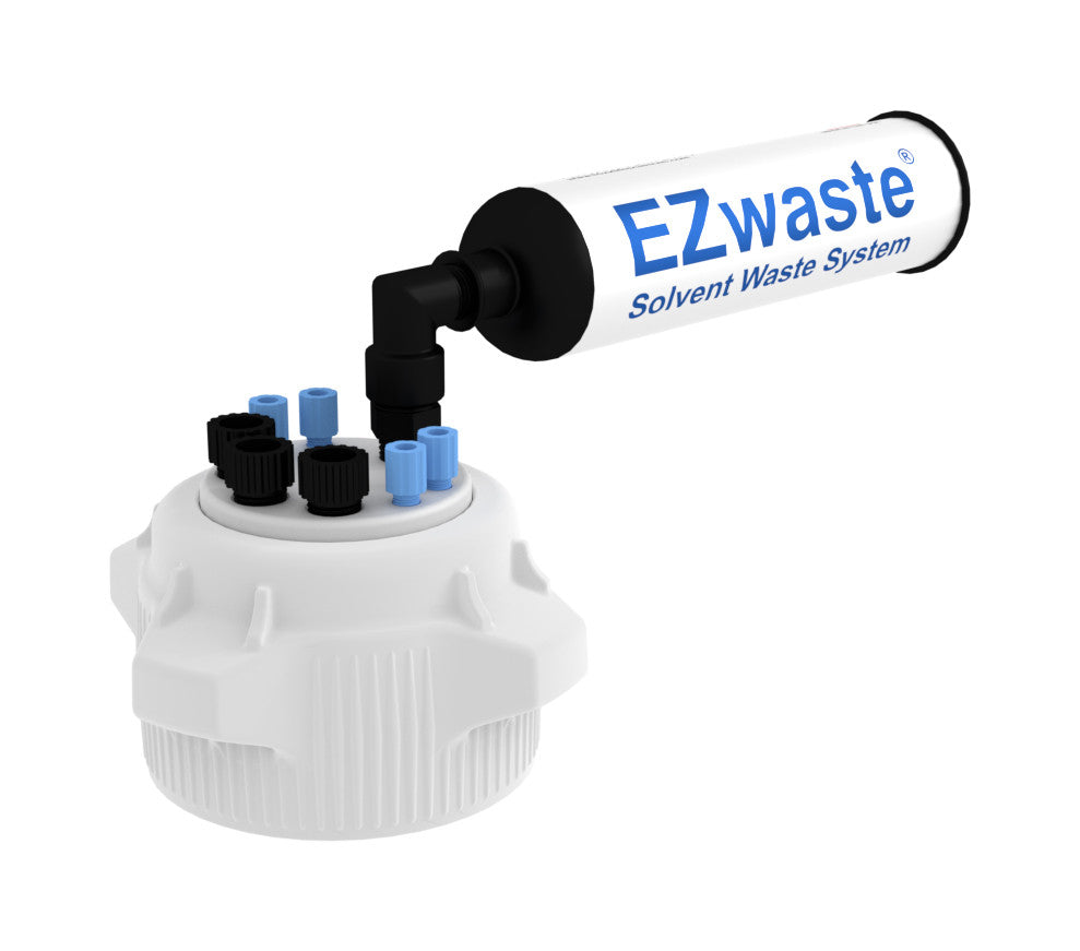 "EZwaste System, 83mm Cap, 4x 1/8"", 3x 1/4"" OD Tubing & Filter"