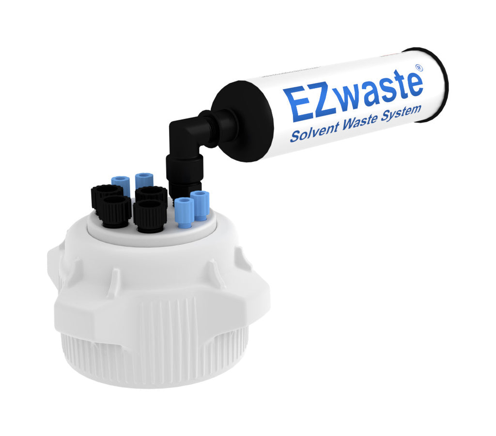 "EZwaste System, 83mm Cap, 4x 1/8"", 4x 1/4"" OD Tubing & Filter"