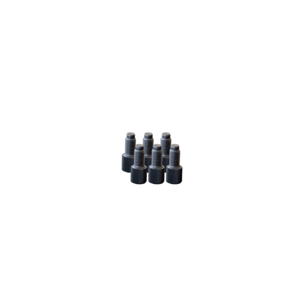 EZwaste Replacement Fittings, 1/4-28 Plugs, 6 Pack