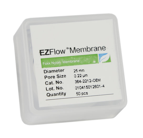 EZFlow® Membrane Disc Filter, 0.22µm Nylon, 25mm, 50/pack