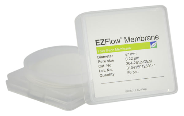 EZFlow® Membrane Disc Filter, 0.22µm Nylon, 47mm, 50/pack