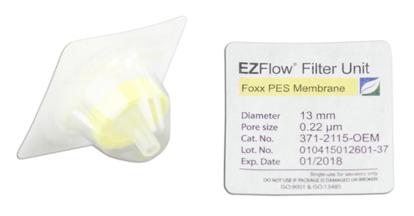 EZFlow® Syringe Filter, 0.22µm PES, 13mm, Sterile, 100/pack
