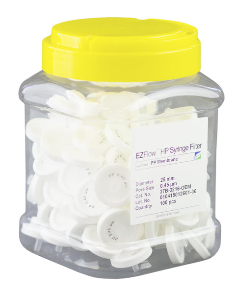 EZFlow® Syringe Filter, 0.45µm PP, 25mm, 100/pack