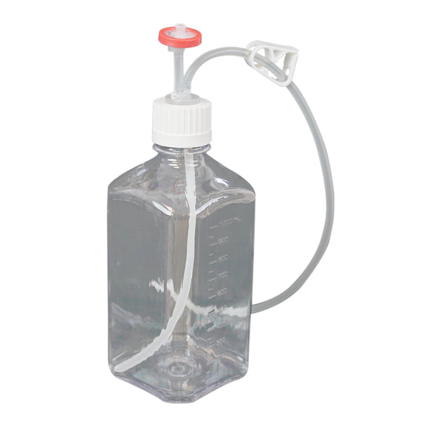 EZBio, Single Use Bottle Assembly, 1000mL, 38-430 VersaCap, PC, Vented w/ DipTube, 10/Pack