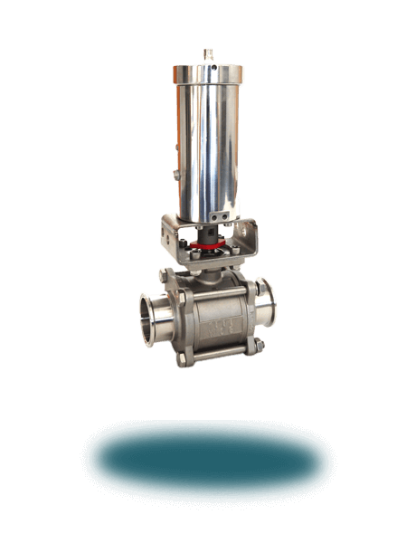 Sanitary Ball Valve (Pneumatic/3-Way/CIP)