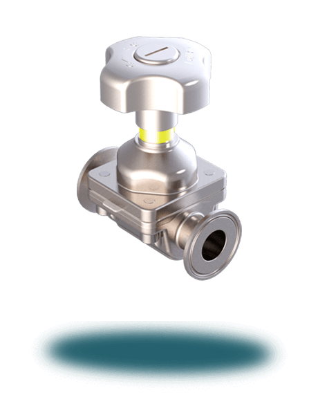 Weir Diaphragm Valve (Manual/Tri-Clamp)