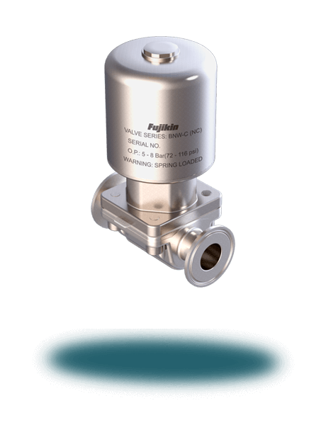Weir Diaphragm Valve (Pneumatic/Tri-Clamp)