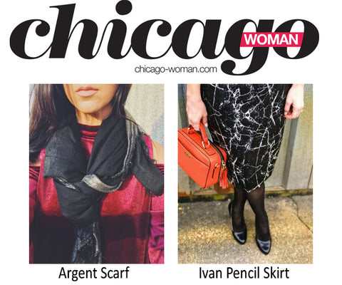 Suki + Solaine in Chicago Woman Magazine Holiday Gift Guide for the Fashionista