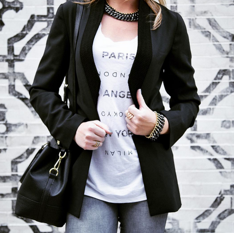 Divisible Blazer as seen on Marlena from Style Your Passion Blog. Easy Fits and Elevated Looks that are made in the USA.