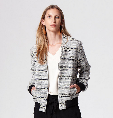 Suki and Solaine Nevada Bomber Jacket, ethically made women's fashion made in the USA