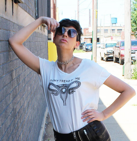 Suki and Solaine Power Rocker Tee WOMYN fashion collection celebrating strength and unity