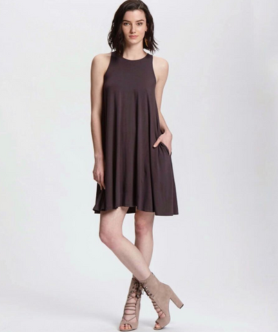 Suki and Solaine ethically made womens fashion clothing made in the USA, Trapeze Swing Dress
