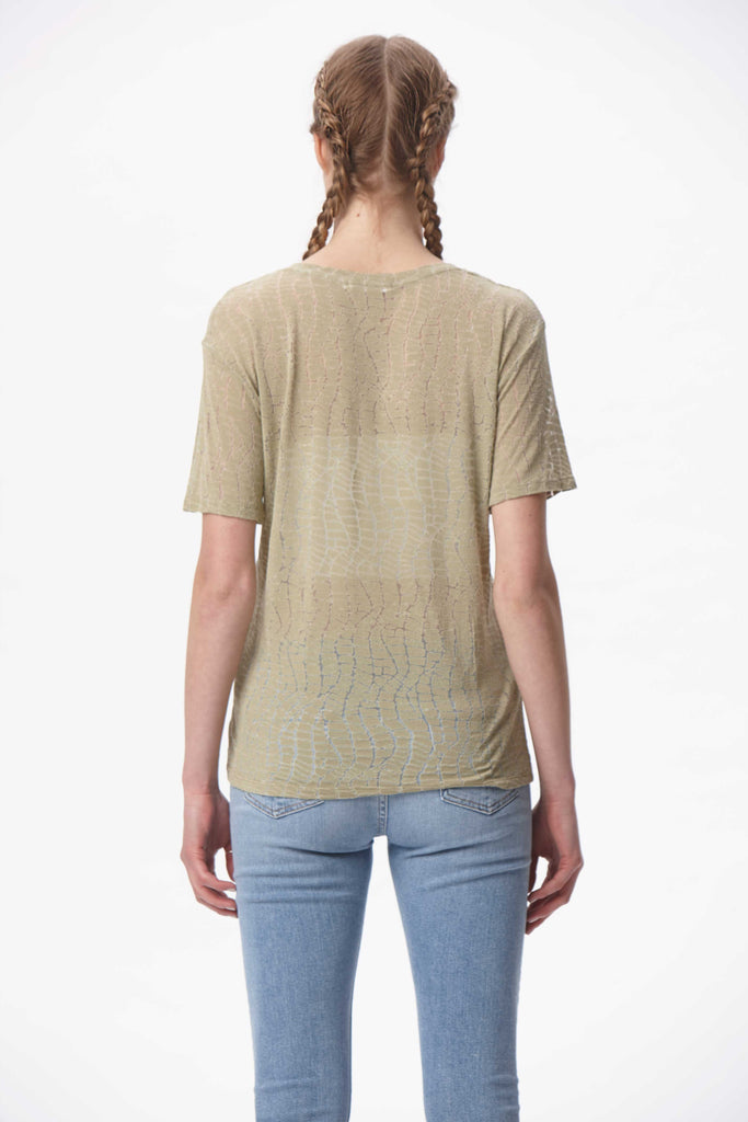 Croc Burnout Essential Tee - Olive