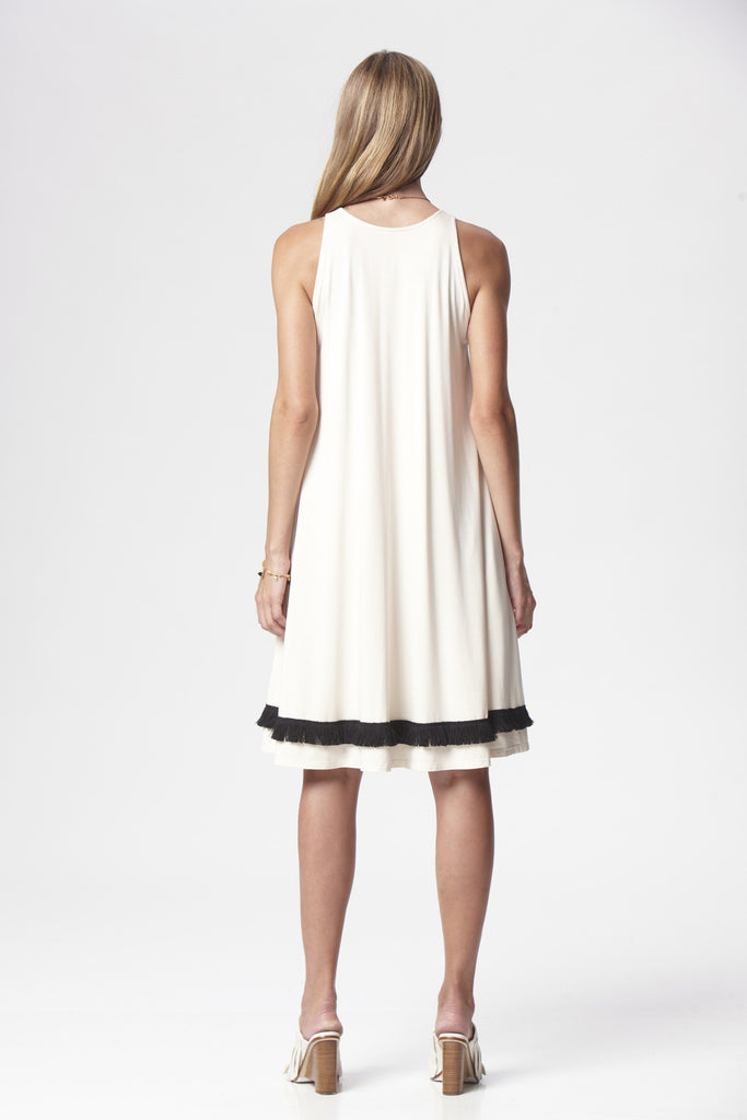 Fringed Essential Trapeze Dress