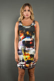 Slim Fit Scoop Dress - Cityscape - Suki + Solaine
