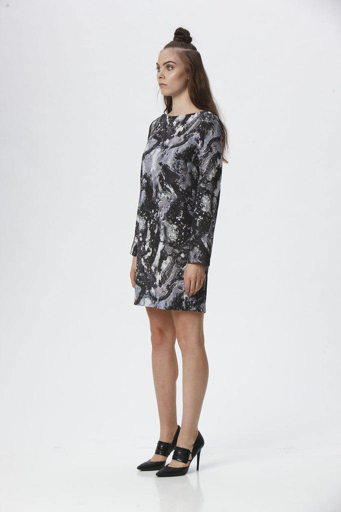 Suki + Solaine Galatea Mini Dress has an exclusive print with invisible back zipper. Great for anything from casual to dressy.