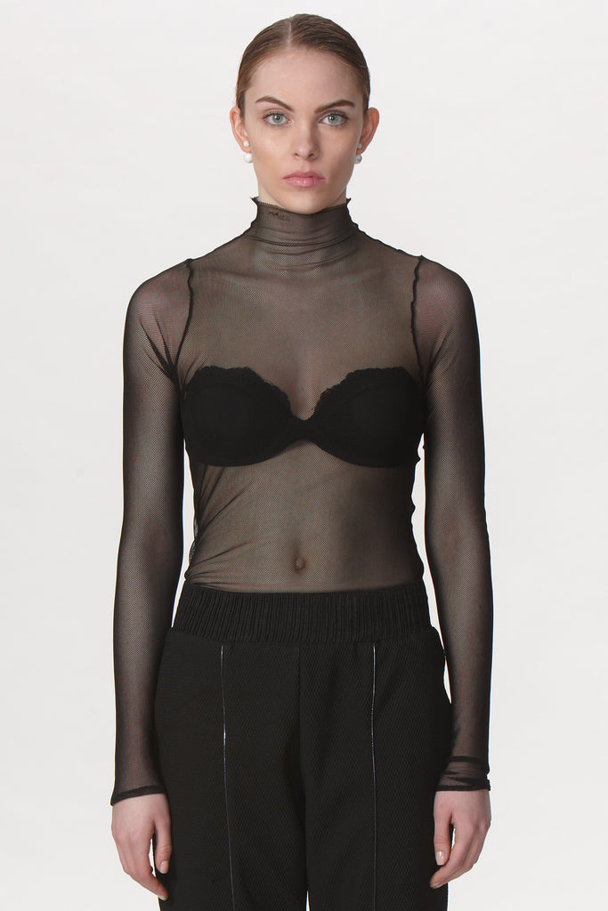 Single Mesh Turtleneck - Suki + Solaine
