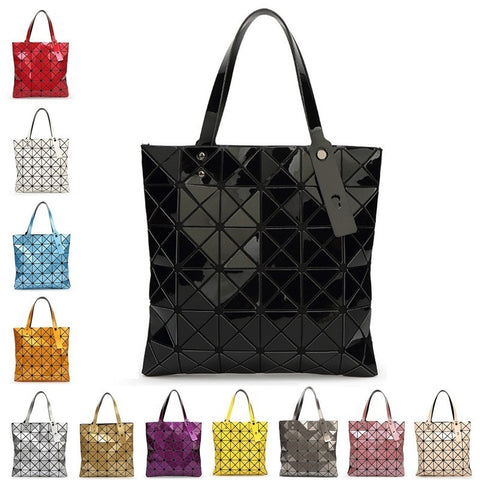 Geometric Plaid Shoulder Handbags